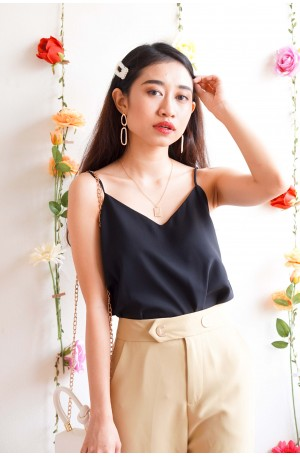 (BACKORDER) Simple Joy Camisole in Black