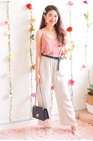 (BACKORDER) Judge The Look Culottes in Beige