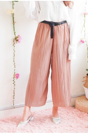 Comfy is Key Pleated Culottes in Khaki