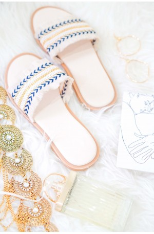 Island Escapade Sandals in White