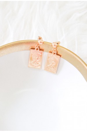 (BACKORDER) Selene Greek Earrings (Rectangular)