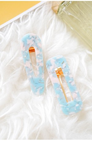Cutie Pie Hair Clips in Blue