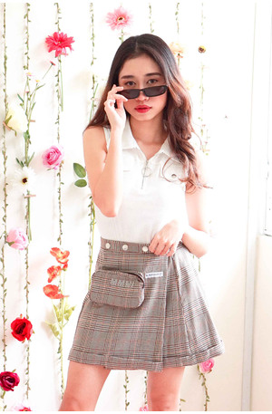 Pretty Little Fears Gingham Skater Skirt