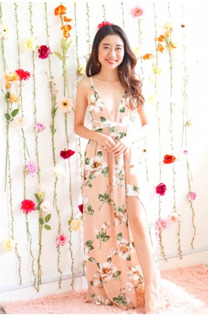 Dream Over Reality Floral Crossback Maxi Dress
