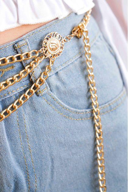 Mind Over Matter Golden Chain Belt