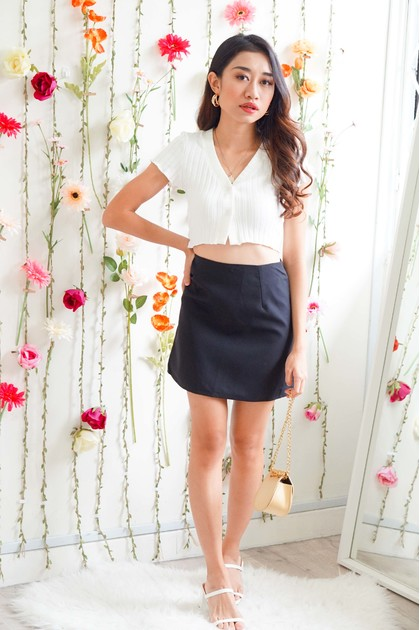 Good Times Mini Skirt in Black