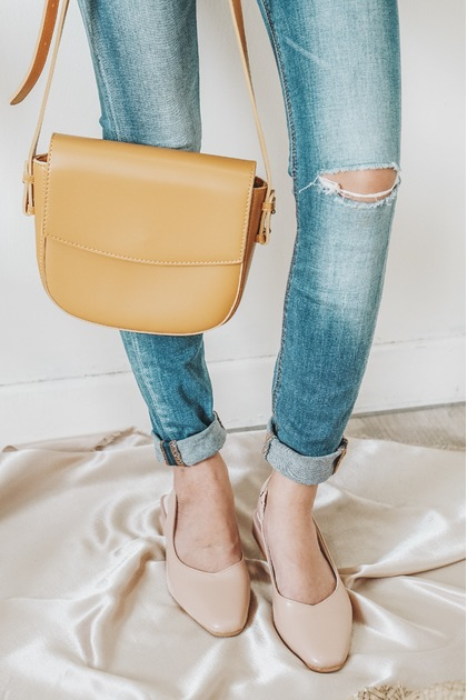 SMOL // FREYA Crossbody Bag in Yellow