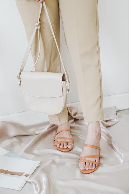 SMOL // FREYA Crossbody Bag in Cream
