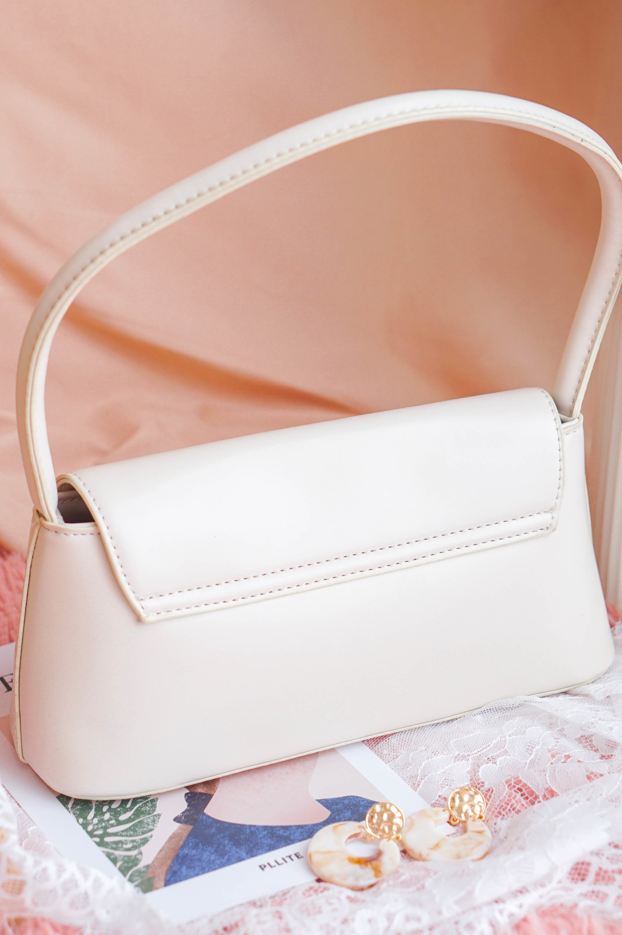 SMOL // See You In Paris Bag in White