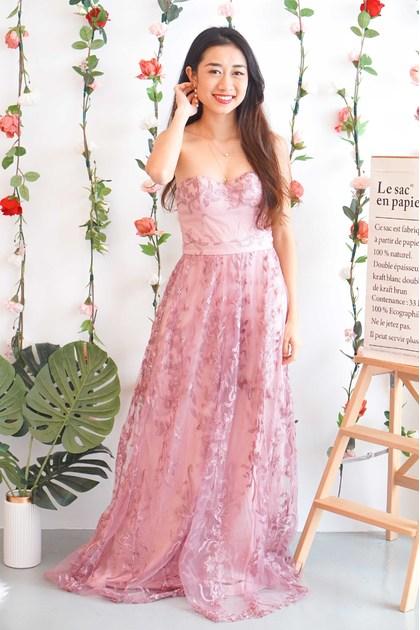 Garden's Goddess Tube Dress in Dusty Purple