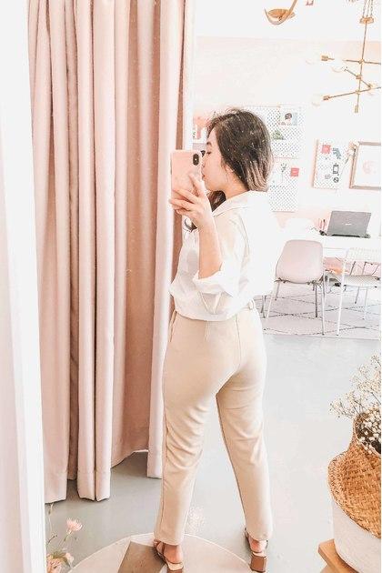 Set Things Straight Pants in Beige