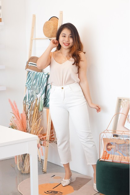 All Pure Cropped Jeans in White