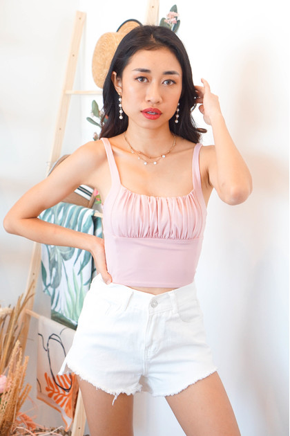 No Where To Be Sleeveless Top in Pink