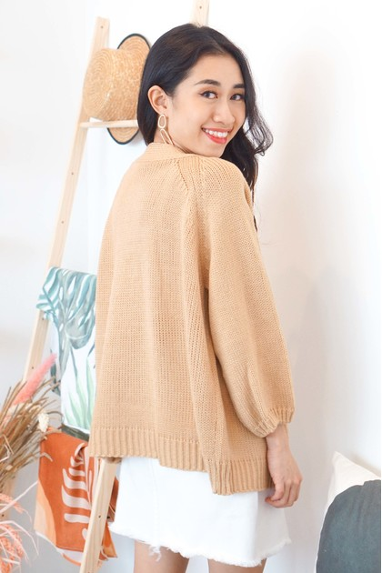 Comfy Be Yours Cardigan in Khaki