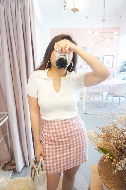 (BACKORDER) ABG Knit Collar Top in White