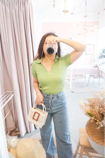 (BACKORDER) ABG Knit Collar Top in Green