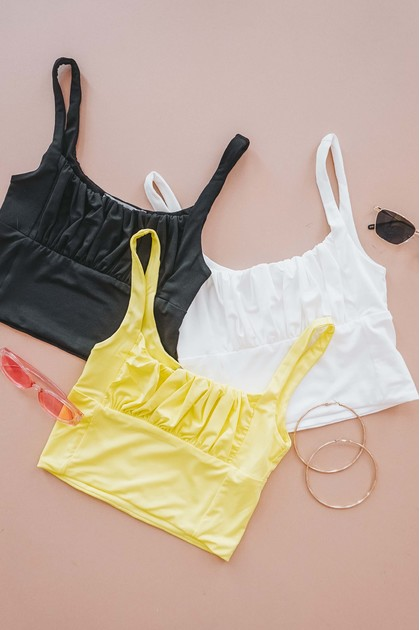 No Where To Be Sleeveless Top in Black