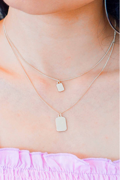 Tag You're It Layered Necklace