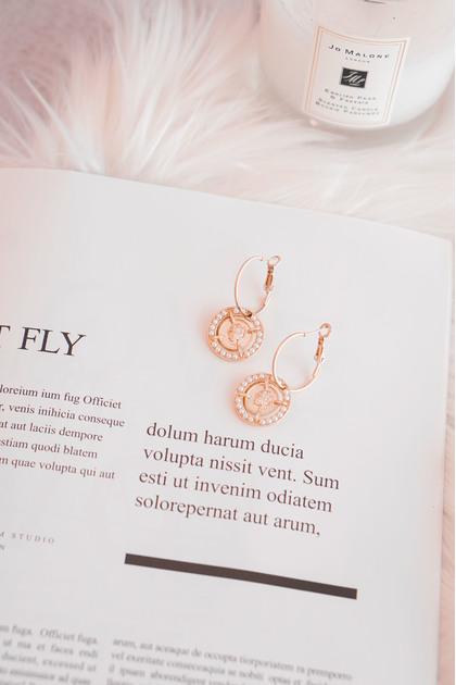 Rare Gem Coin Gold Earrings