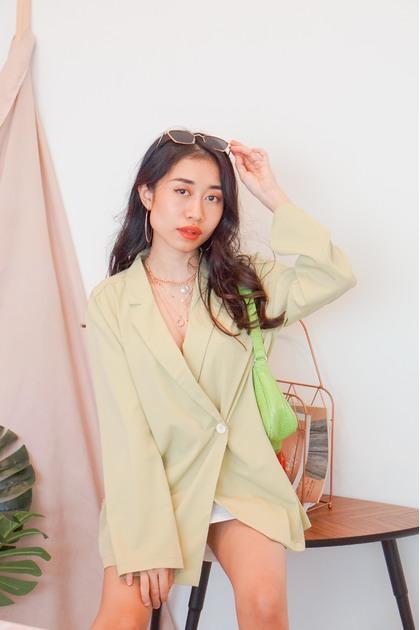 SMOL // Cross My Heart Bag in Green