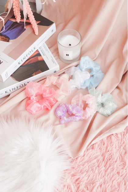Mesh To Meet You Scrunchie Hair Tie (FOR 2)