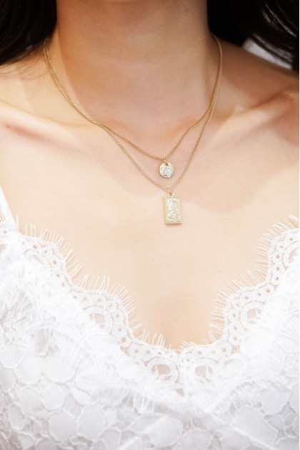 Kiss and Tell Layered Gold Necklace