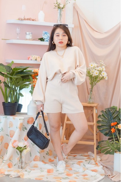 (BACKORDER) Off Duty 2 Piece Lounge Set in Nude