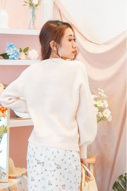 Reconnected Lover Knit Cardigan in Beige