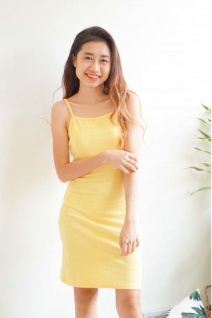 Warm Embrace Sun Dress in Yellow