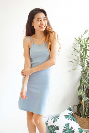 Warm Embrace Sun Dress in Baby Blue