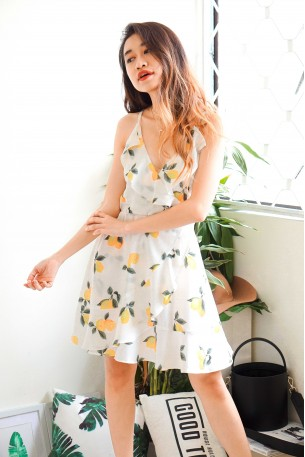 Lemonade Girl Halter Neck Dress
