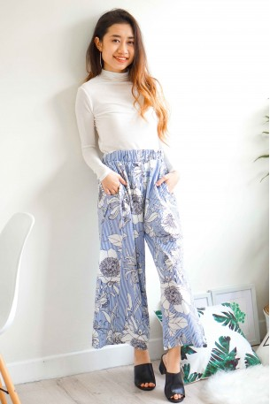 Sunday Blues Floral Culottes