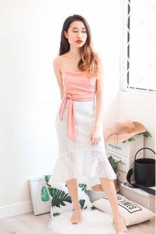 Greatest Love White Lace Mermaid Skirt