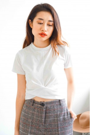 My Way White Crop Top