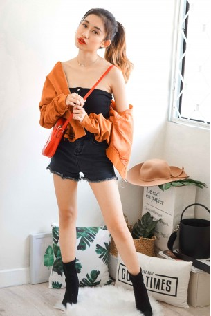 Nasty Chic Orange Bomber