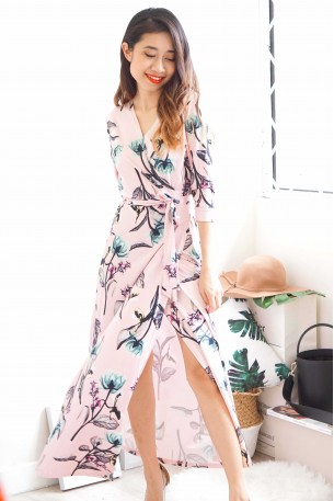 Second Spring Pink Floral Maxi Dress