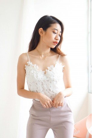 What Lovers Do Lace Crochet Top in White